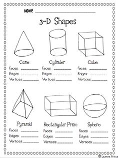 Solid Figures-create an anchor chart together after letting them explore shapes in groups.