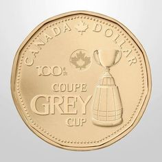 The Grey Cup canada football and now it is featured on a new one-dollar circulation coin produced by the Royal Canadian Mint! to celebrate the Grey Cup. Old Coins, Rare Coins, Canadian Things, Numismatic Coins, Grey Cup, Coins Worth Money, Canadian Dollar, Coin Worth, Cutaway