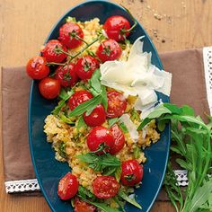 Linsen-Quinoa mit Ofentomaten