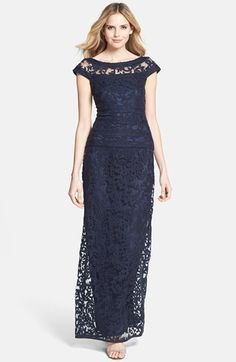 Mother of the Bride- Tadashi Shoji Embroidered Lace Gown (Regular & Petite) Mob Dresses, Bridesmaid Dresses, Lace Dresses, Bride Dresses, Bridesmaids, Pretty Dresses, Beautiful Dresses, Mother Of Groom Dresses, Mermaid Gown