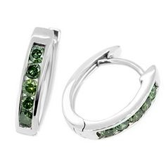 We are pleased to offer these elegant white gold hoop earrings. The earrings are channel-set with high-quality fancy-green diamonds and measure x The total diamond weight is Green Diamond, Diamond Hoop Earrings, Colored Diamonds, Precious Metals, Diamond Engagement Rings, Channel, White Gold, Fancy, Gemstones