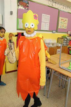Carnaval 2013 - Lisa- Simpson Lisa Simpson, Azul Cyan, Diy Disfraces, Diy Costumes, Halloween Costumes, Simpsons Costumes, Book Character Day, Book Characters, Special Events