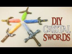 DIY CRYSTAL SWORDS Polymer Clay Tutorial Skylanders Superchargers - YouTube