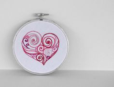 swirly heart embroidery