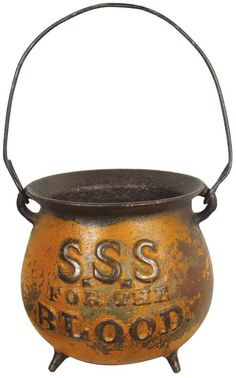 S.S.S. for the Blood advertising Cast Iron String Holder