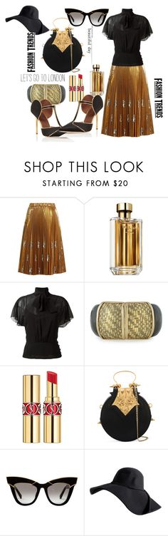 """""""Untitled #161"""" by pesanjsp ❤ liked on Polyvore featuring N°21, Prada, RED Valentino, Alexis Bittar, Yves Saint Laurent, Okhtein and Malone Souliers"""