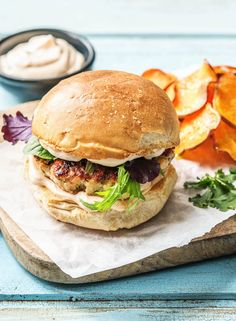 Melty Monterey Jack Burger With Red Onion Jam And Zucchini Fries Recipe Steak And Beef