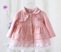 Spring and autumn new style baby girls cardigan jacket coat fashion cute infant children Jacket tops Outerwear Frock Design, Baby Dress Design, Baby Girl Dress Patterns, Baby Girl Cardigans, Baby Girl Shirts, Baby Girls, Cotton Frocks For Kids, Frocks For Girls, Baby Girl Party Dresses