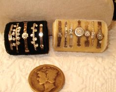 Miniature Bracelets and Watches in 1/12 scale by Susan Hattler Harmon