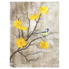 Grey Birds I Canvas Wall Art