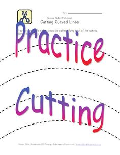 Printable practice cutting activity is a   fun way to develope the fine motor skills our children need for kindergarten.