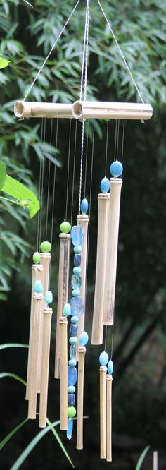 Beautiful Hand Crafted Bamboo Wind Chimes With by KieffersKrafts
