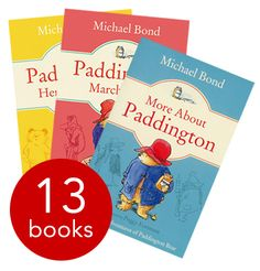 Paddington Fiction Collection - 13 Books. Complete with Peggy Fortnum's original Paddington illustrations, this 13-book collection is essential reading for any little one who has yet to be introduced to this lovable bear - or for adults who wish to reacquaint themselves with Paddington's original adventures. Our price: £14.99, RRP: £77.87 #TBPNewTitles #NewChildrens #ChildrensBooks #Paddington #MichaelBond