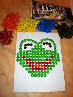 Kermit the Frog M&M's. Cute for cake decoration!