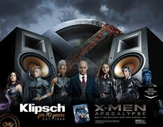 Win a home theater system on Klipsch - X-Men: Apocalypse Sweepstakes