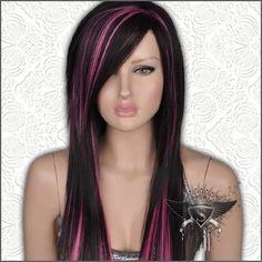 GW467 Dark Brown Long Straight Lady's Full Hair Wig Cosplay Pretty Gothic Lolita   eBay