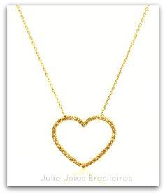 Pendente em ouro 750/18k e citrino (750/18k gold pendant with citrine)