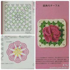 Flower granny square (diagram)