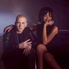 November 20: Eminem and Rihanna is on set for their video 'The Monster.'   Billboard