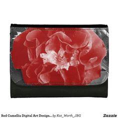 Red Camellia Digital Art Design by Kat Worth Women's Wallets Digital Wallet, Camellia, Wallets For Women, Digital Art, Women's Wallets, Tote Bag, Red, Design
