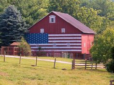 USA Painted Flag on Barn