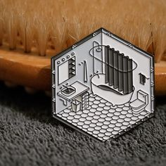 Repost @studiocult.co Scrub-a-dub-dub Our new bathroom pin is out! Now available in our shop (Posted by https://bbllowwnn.com/) Tap the photo for purchase info. Follow @bbllowwnn on Instagram for the best pins & patches!