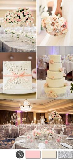pink and invory glamour wedding ideas