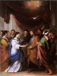 The Marriage of the Virgin - Bartolome Esteban Murillo