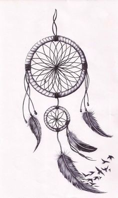 Dream catcher tattoo  (*not my artwork*)