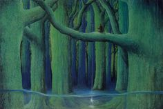 Star Fishing by Toshio Ebine. The Plan, Japanese Contemporary Art, Fairytale Art, Geek Culture, Texture Painting, Whimsical Art, Tree Art, Book Illustration, American