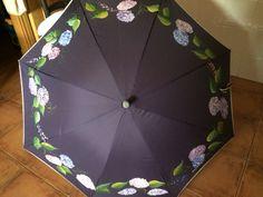 Paraguas hortensias