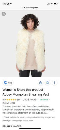 634586f11ea 90 Best Shearling Vest images in 2019 | Fashion, Shearling vest, Jackets