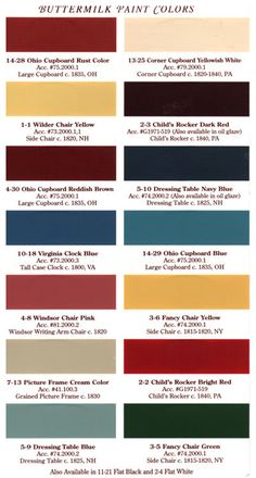 Country Paint Colors these amierican heritage paints are great for painting cabinetry