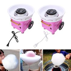 Electirc Candyfloss Making Machine Cotton Sugar Candy Floss Maker DIY US/EU Plug
