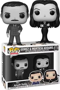 TV: The Addams Family Morticia and Gomez Black-and-White Vinyl Entertainment Earth Exclusive Morticia Addams, Gomez And Morticia, Funko Pop Toys, Funko Pop Vinyl, Los Addams, Atypical, Pop Figurine, Funk Pop, Dream Pop