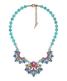 Lapis Lazuli & Turquoise Positano Statement Necklace