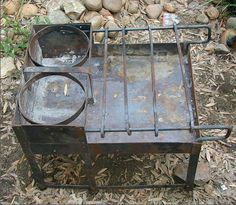 Craticula, Roman stove, steel. Metal Projects, Welding Projects, Metal Crafts, Outdoor Oven, Outdoor Cooking, Fire Cooking, Camping Stove, Tent Camping, Glamping