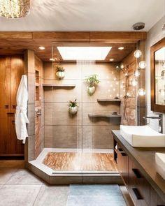 Bathroom, Home Decoration katalay.net/home-decoration/ #bathroom #homedecor #homedecoration Bathroom Design Small, Bathroom Layout, Simple Bathroom, Bathroom Interior Design, Bathroom Designs, Natural Bathroom, Tile Layout, Minimal Bathroom, Cool Bathroom Ideas