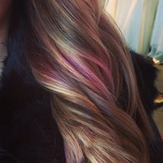 Mother of Pearl, colored hair, ombré