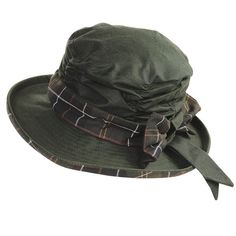 Barbour Waxed Cotton Hat - to match my Barbour jacket. English women always wear hats, even in the country.