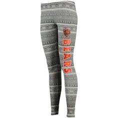 Chicago Bears Concept Sports Women's Comeback Tribal Print Leggings - Charcoal