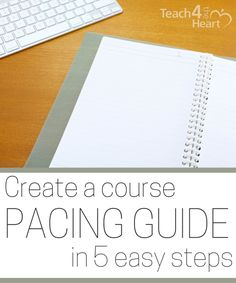 Create a course pacing guide in 5 easy steps