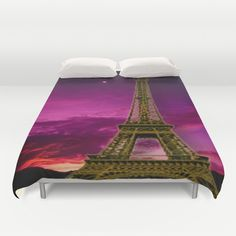 Eiffel Tower  Duvet Cover by Elena Indolfi #Society6