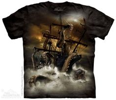 The Mountain Fantasy T-shirt   Kraken, New 2014 Adult T-shirts from The Mountain, 103658