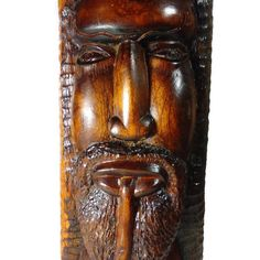 Hand Carved Wood Jamaican African Rastafarian Smoking Man Sculpture 17 inches