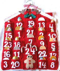 ADVENT CALENDAR Crochet Pattern Christmas by thetreebridge on Etsy, $5.25