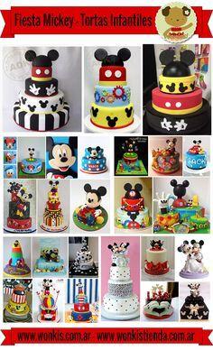 Fiesta #Mickey - Tortas Infantiles Theme Mickey, Fiesta Mickey Mouse, Mickey Mouse Clubhouse Birthday Party, Mickey Mouse Parties, Mickey Birthday, Mickey Party, Disney Parties, Mickey Cakes, Mickey Mouse Cake