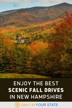 Take a little local road trip in New Hampshire and enjoy the beautiful fall foliage on these scenic routes. Enjoy magical mountain drives, charming small towns, and more. Fall Foliage Map, Mount Washington Auto Road, White Mountain National Forest, Local Attractions, Haunted Places, Amazing Grace, New Hampshire, Small Towns, Vacation Spots