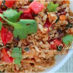 Paleo Spanish-style cauliflower rice. Made this the other day with my no-carb enchiladas and homemade enchilada sauce. Delicious!