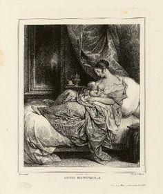 1800 ca.  Breastfeeding Mother.  Album lithographique de divers sujets : Octavie Devéria.                   a80-musees.apps.paris.fr suzilove.com